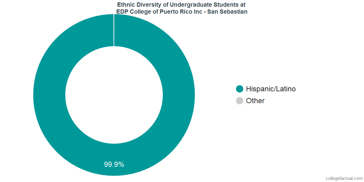 Ethnic Diversity of Undergraduates at EDP University of Puerto Rico Inc - San Sebastian