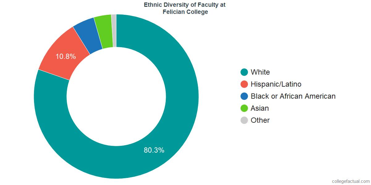 Ethnic Diversity of Faculty at Felician University