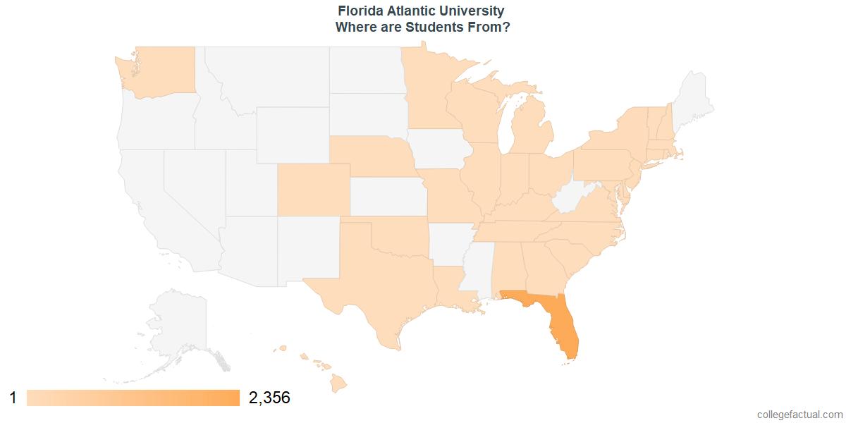 What States are Undergraduates at Florida Atlantic University From?