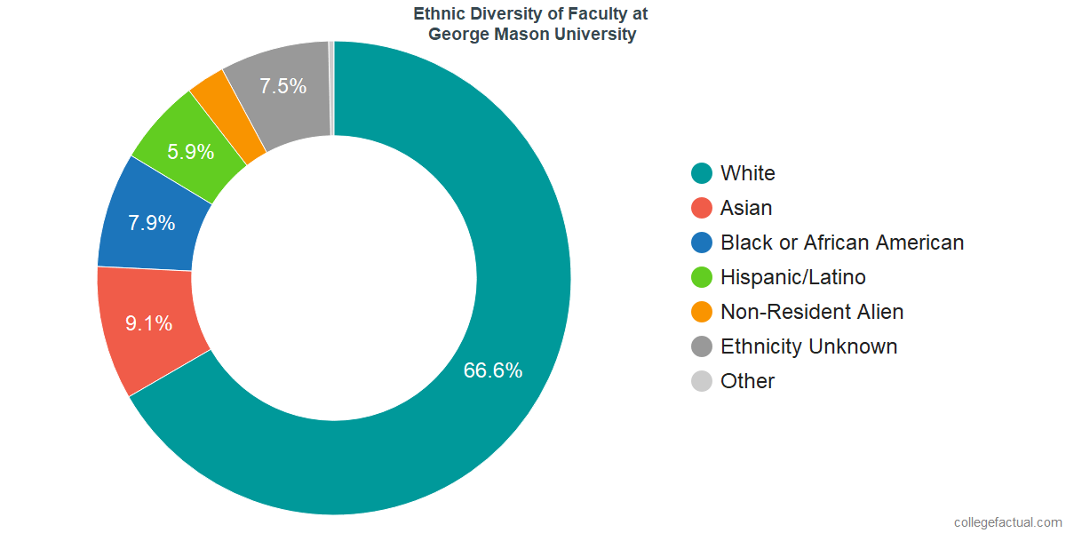 Ethnic Diversity of Faculty at George Mason University