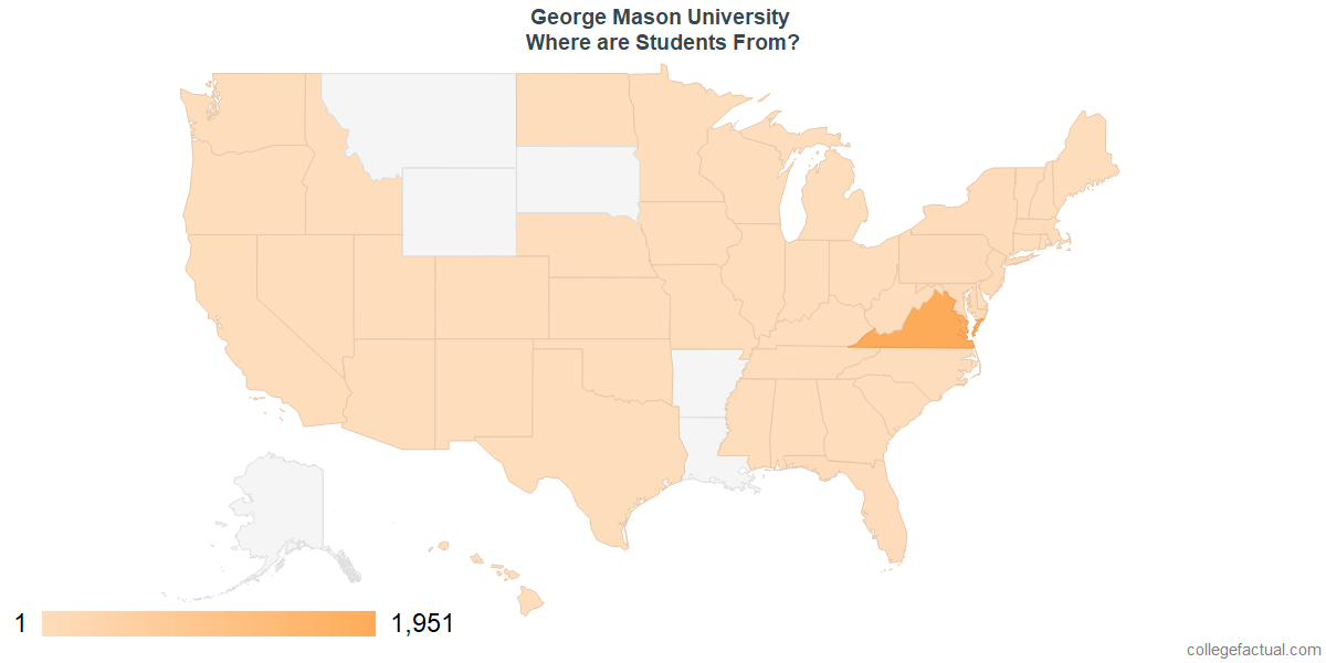 What States are Undergraduates at George Mason University From?
