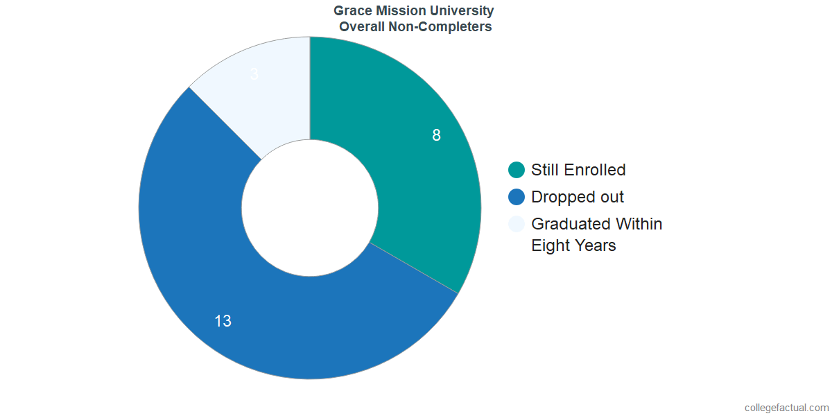 dropouts & other students who failed to graduate from Grace Mission University