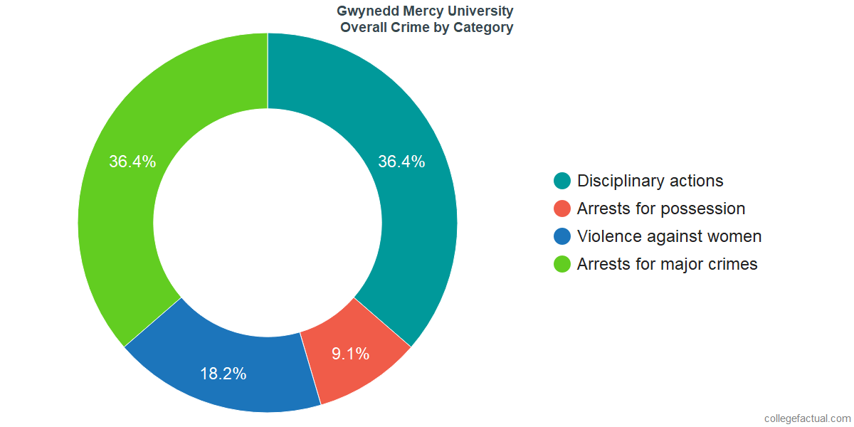 Overall Crime and Safety Incidents at Gwynedd Mercy University by Category