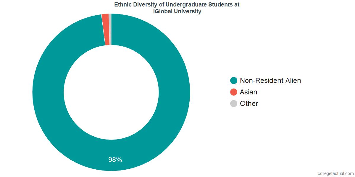Ethnic Diversity of Undergraduates at IGlobal University