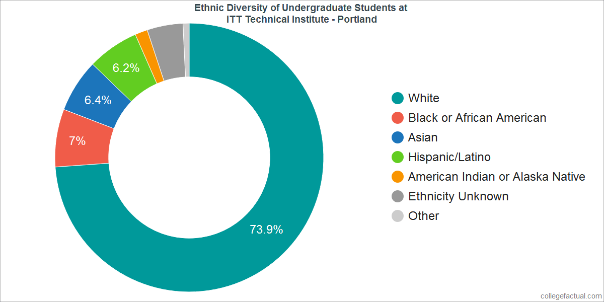 Ethnic Diversity of Undergraduates at ITT Technical Institute - Portland