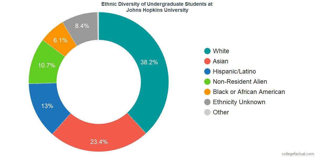 Ethnic Diversity of Undergraduates at Johns Hopkins University