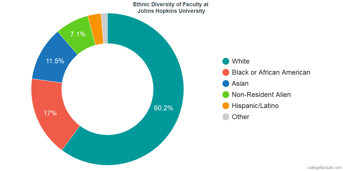 Ethnic Diversity of Faculty at Johns Hopkins University
