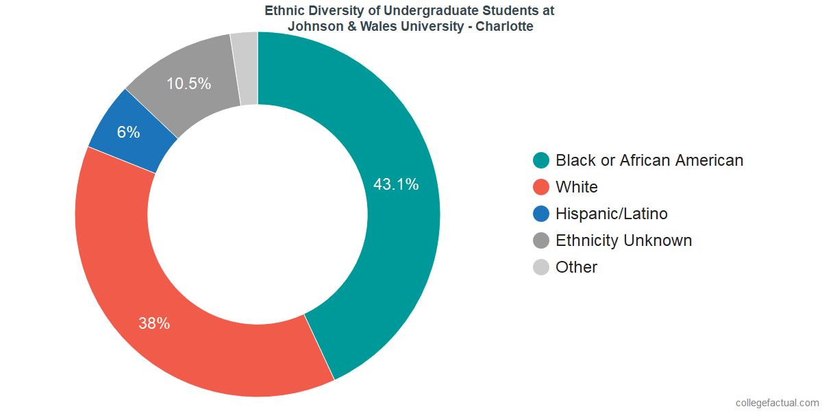 Ethnic Diversity of Undergraduates at Johnson & Wales University - Charlotte
