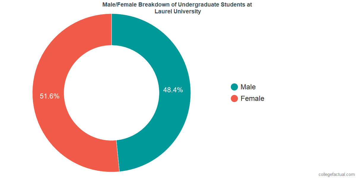 Male/Female Diversity of Undergraduates at John Wesley University
