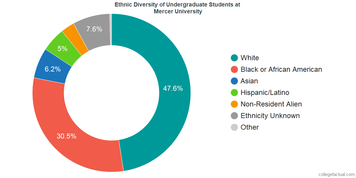 Ethnic Diversity of Undergraduates at Mercer University