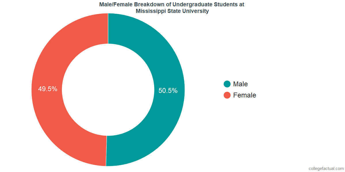 Male/Female Diversity of Undergraduates at Mississippi State University