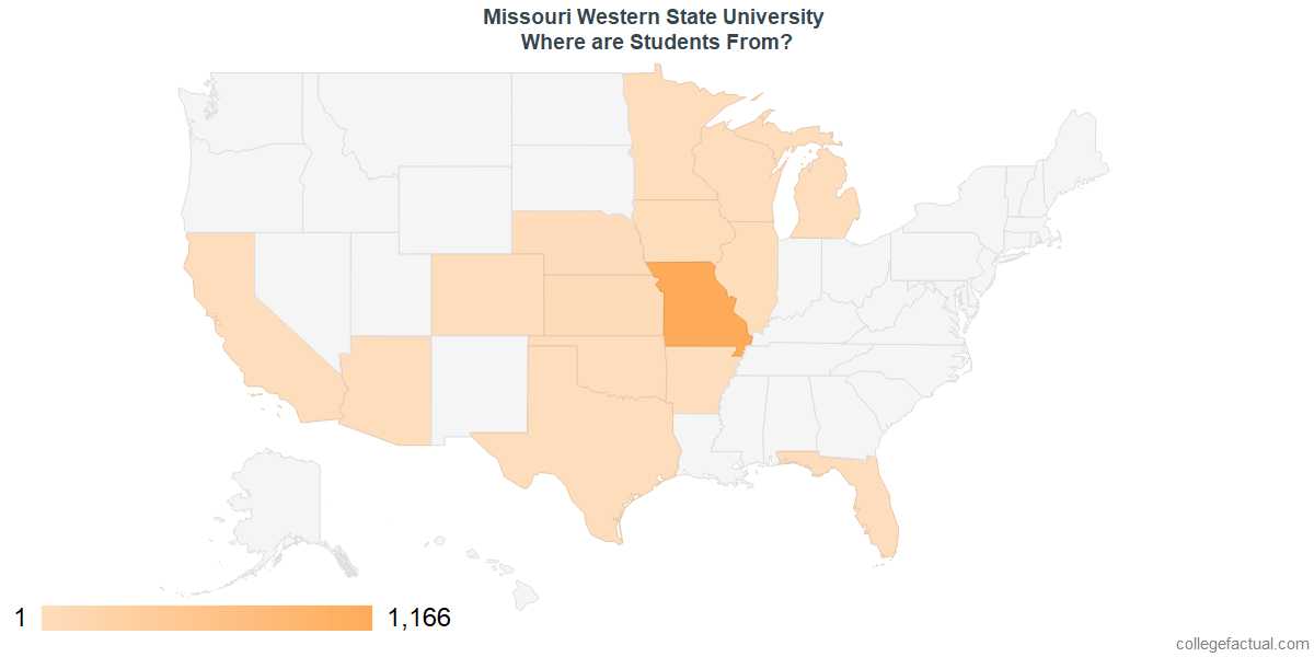 What States are Undergraduates at Missouri Western State University From?