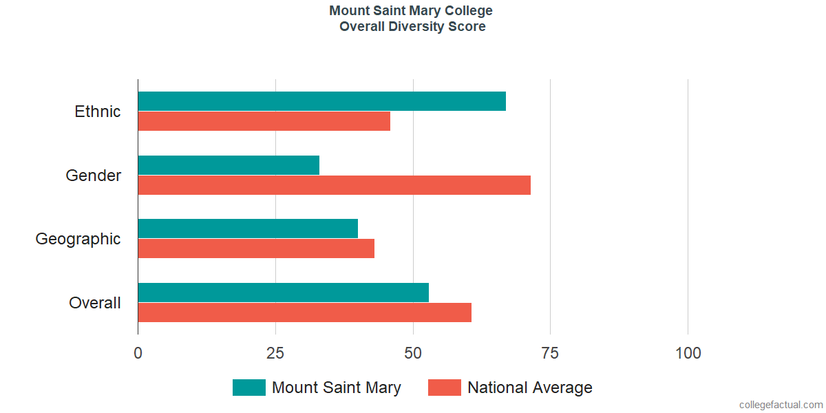 Overall Diversity at Mount Saint Mary College