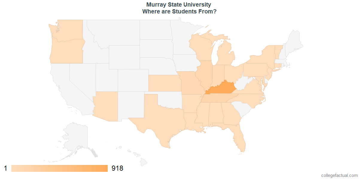 What States are Undergraduates at Murray State University From?
