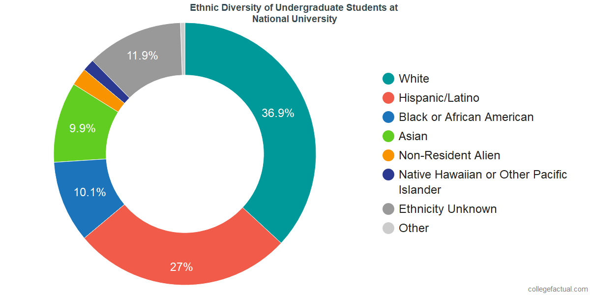 Ethnic Diversity of Undergraduates at National University