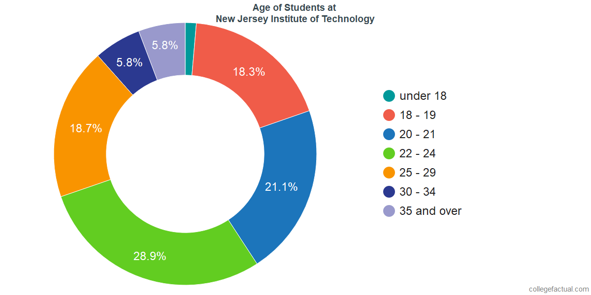 Age of Undergraduates at New Jersey Institute of Technology
