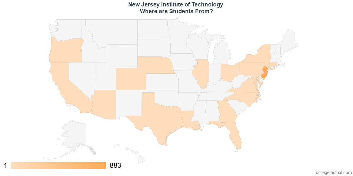 What States are Undergraduates at New Jersey Institute of Technology From?