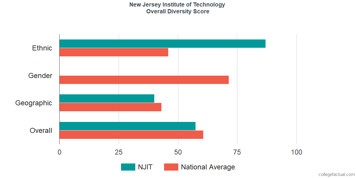 Overall Diversity at New Jersey Institute of Technology