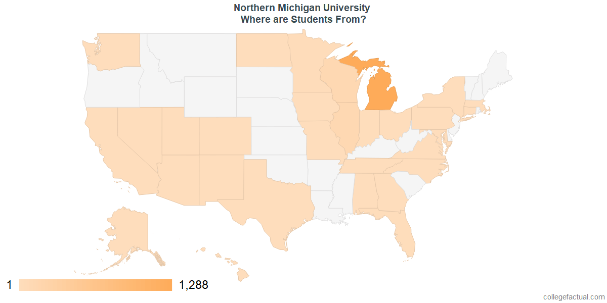 What States are Undergraduates at Northern Michigan University From?