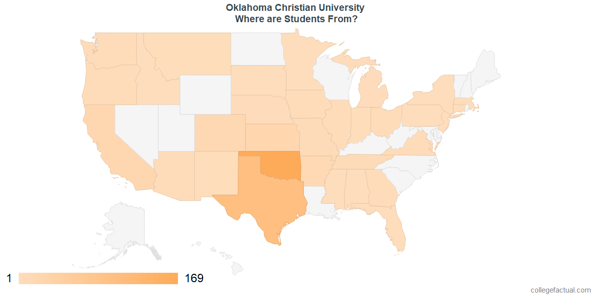 What States are Undergraduates at Oklahoma Christian University From?