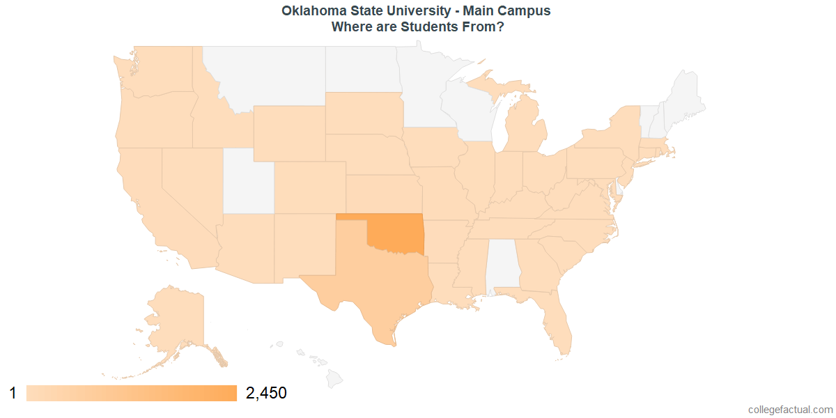 What States are Undergraduates at Oklahoma State University - Main Campus From?