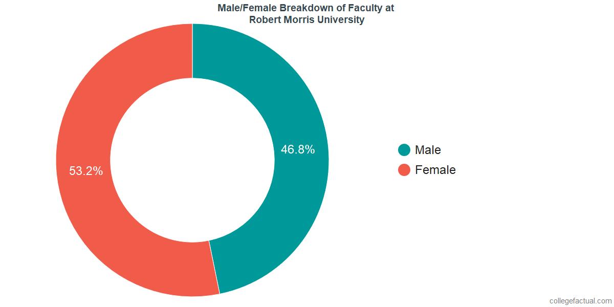 Male/Female Diversity of Faculty at Robert Morris University