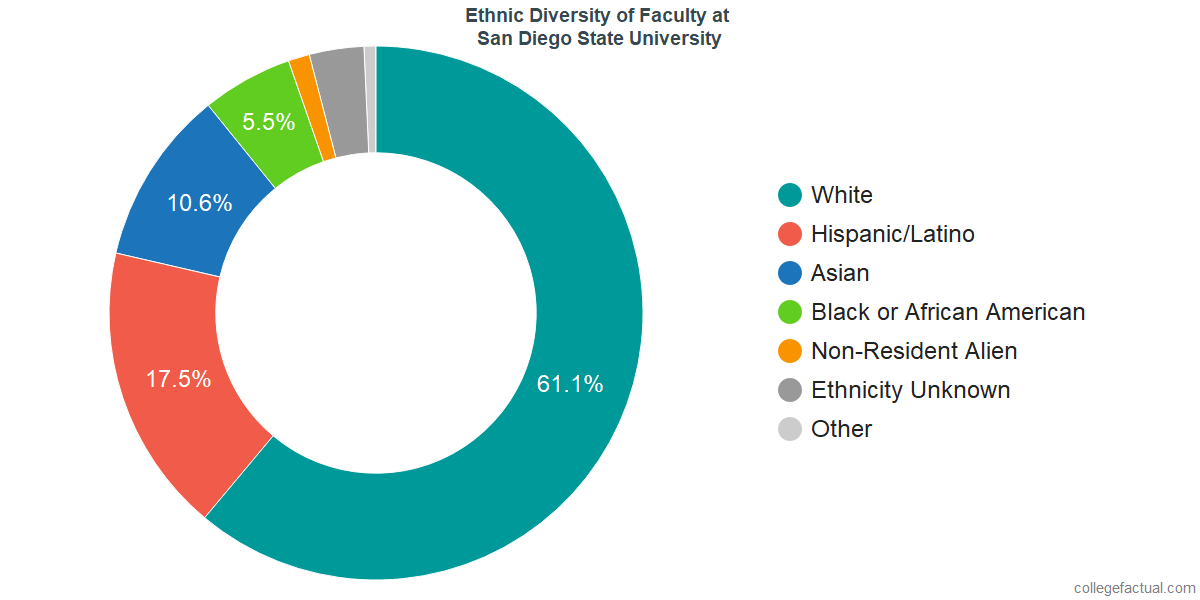 Ethnic Diversity of Faculty at San Diego State University