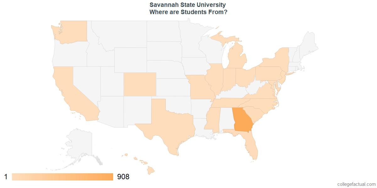 Savannah State Map.Explore Savannah State University Student Population Diversity