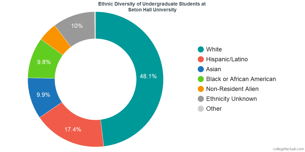 Ethnic Diversity of Undergraduates at Seton Hall University