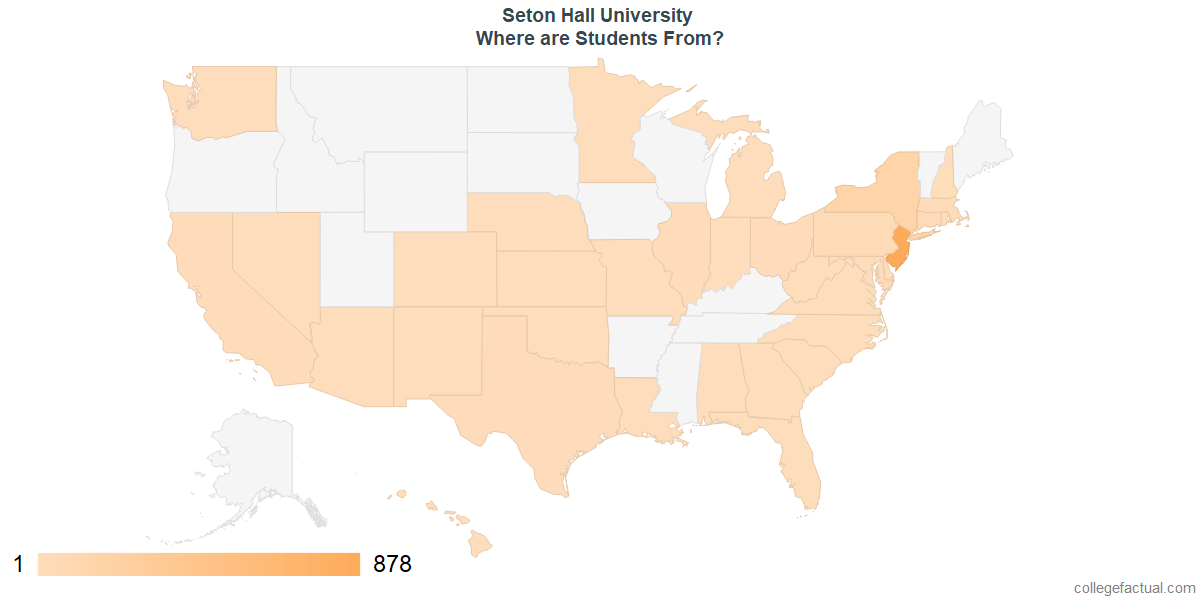 What States are Undergraduates at Seton Hall University From?