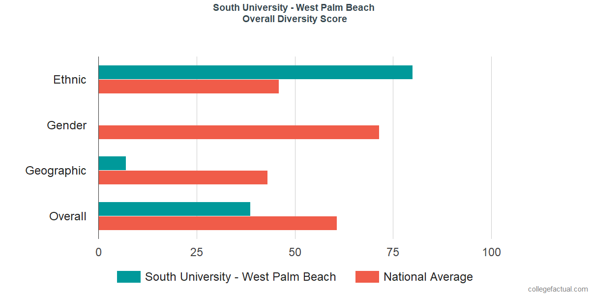 Overall Diversity at South University - West Palm Beach
