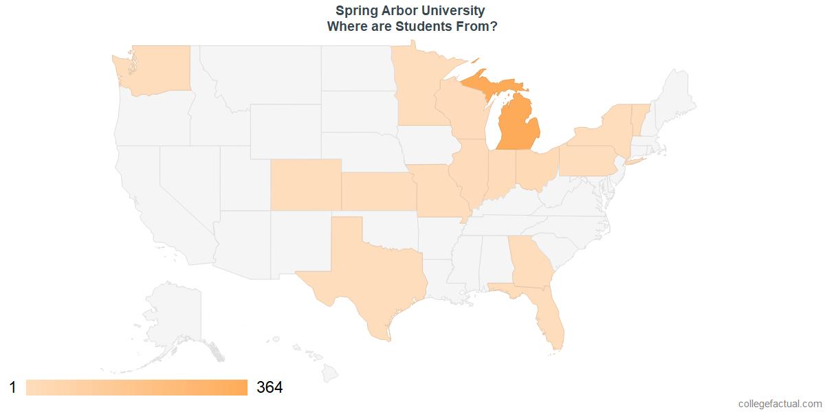 Spring Arbor University Campus Map.Explore Spring Arbor University Student Population Diversity