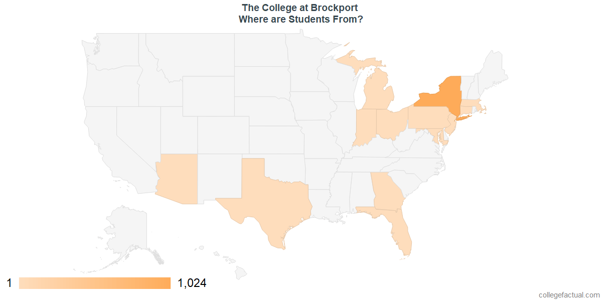 What States are Undergraduates at The College at Brockport From?