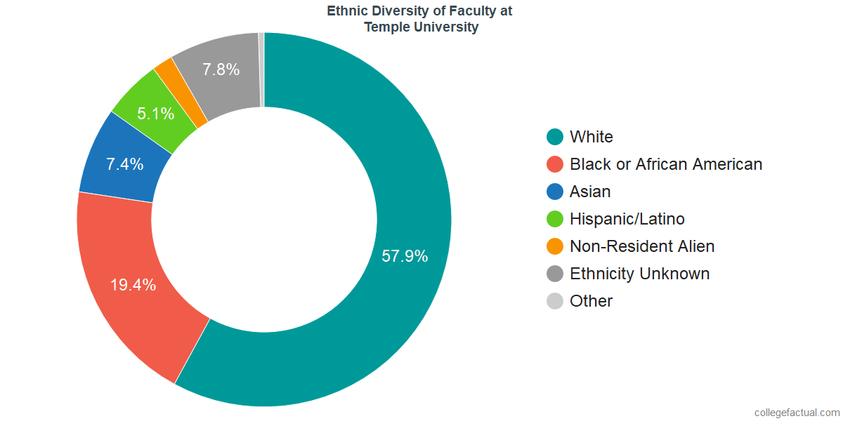 Ethnic Diversity of Faculty at Temple University