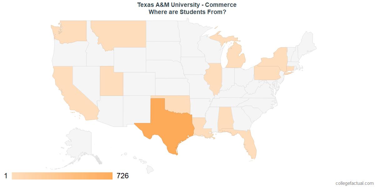 Am Commerce Campus Map.Explore Texas A M University Commerce Student Population