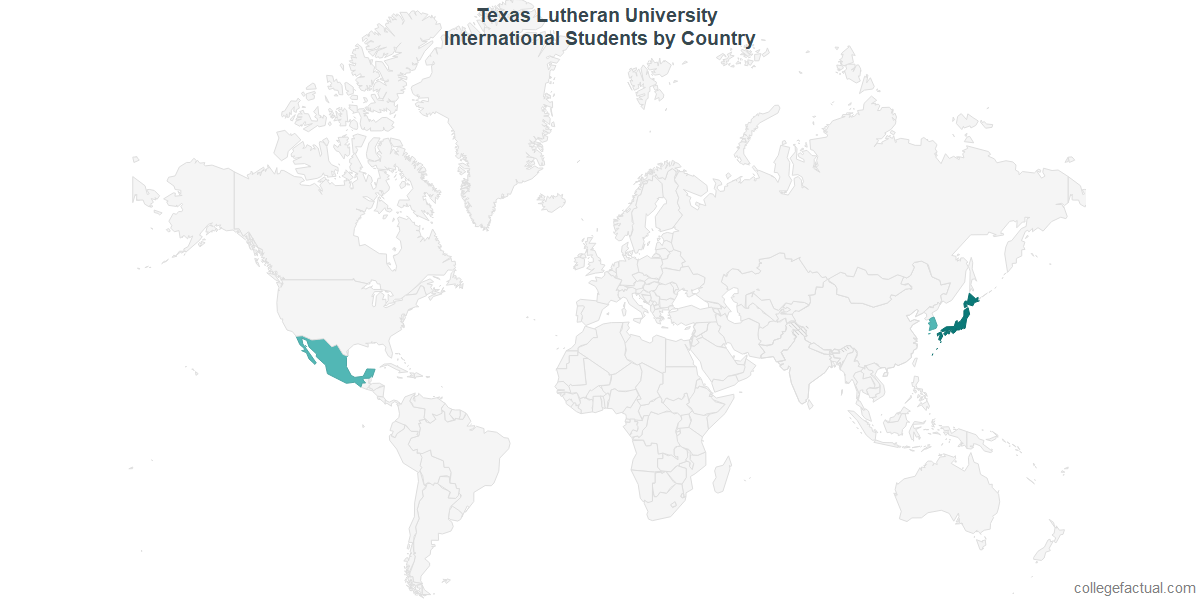 Map Of Texas Lutheran University.Tlu International Students Information On International Students By
