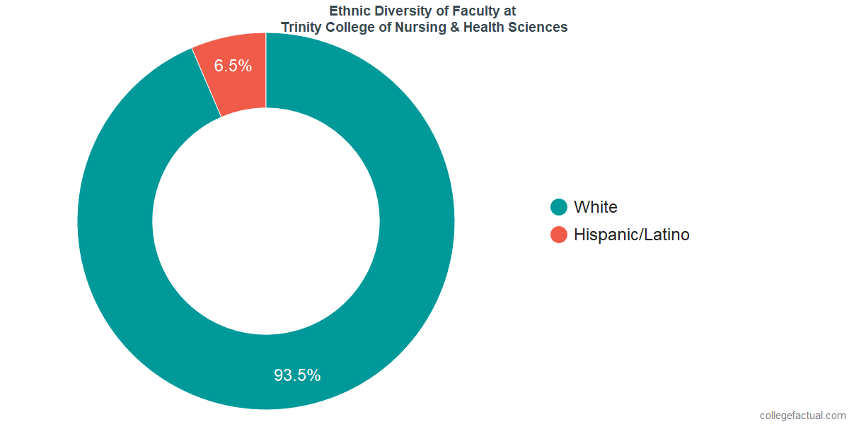 Ethnic Diversity of Faculty at Trinity College of Nursing & Health Sciences
