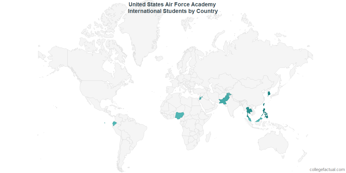 United States Air Force Academy International Students - Air force academy map