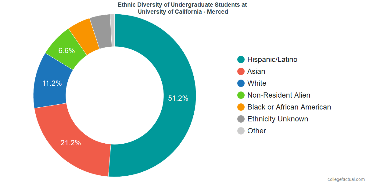 Ethnic Diversity of Undergraduates at University of California - Merced
