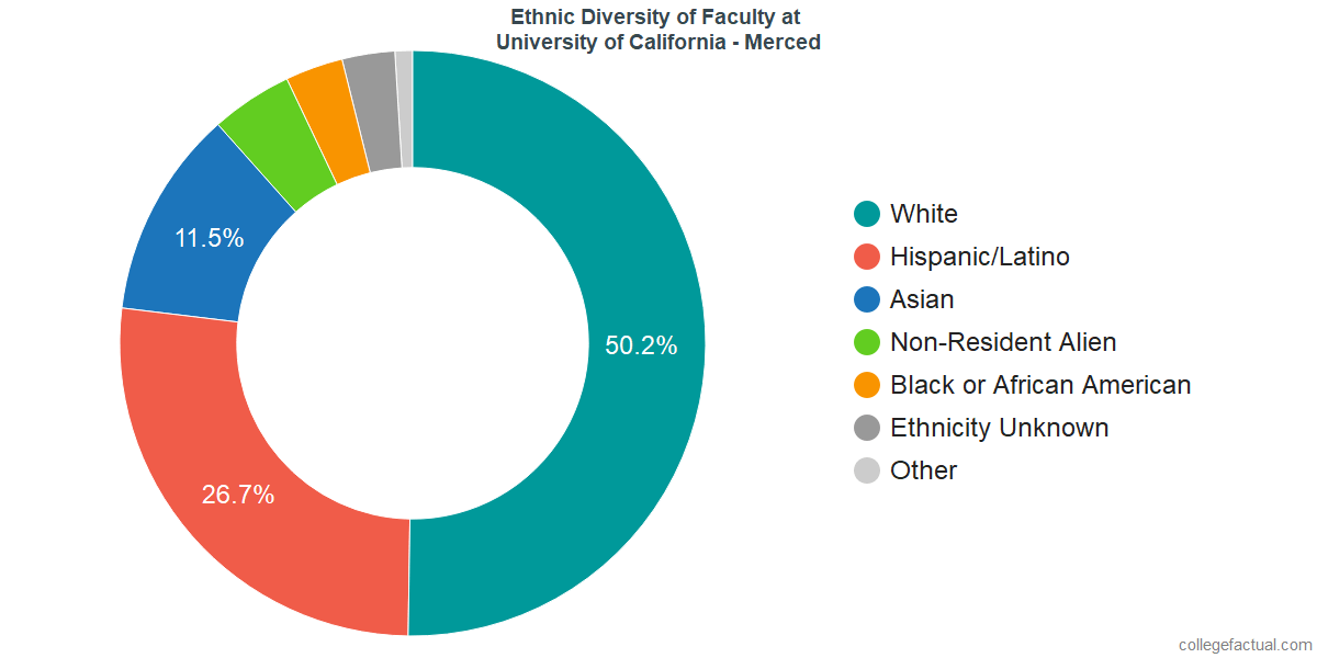 Ethnic Diversity of Faculty at University of California - Merced