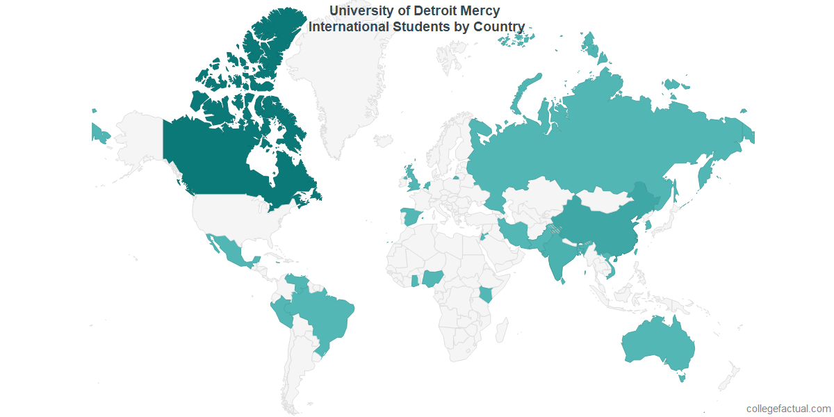 Udm Campus Map.University Of Detroit Mercy International Students Information On