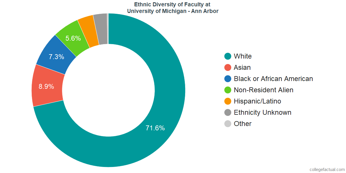Ethnic Diversity of Faculty at University of Michigan - Ann Arbor