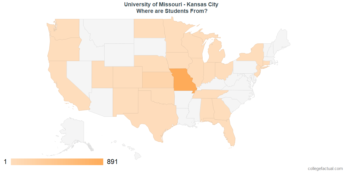 What States are Undergraduates at University of Missouri - Kansas City From?