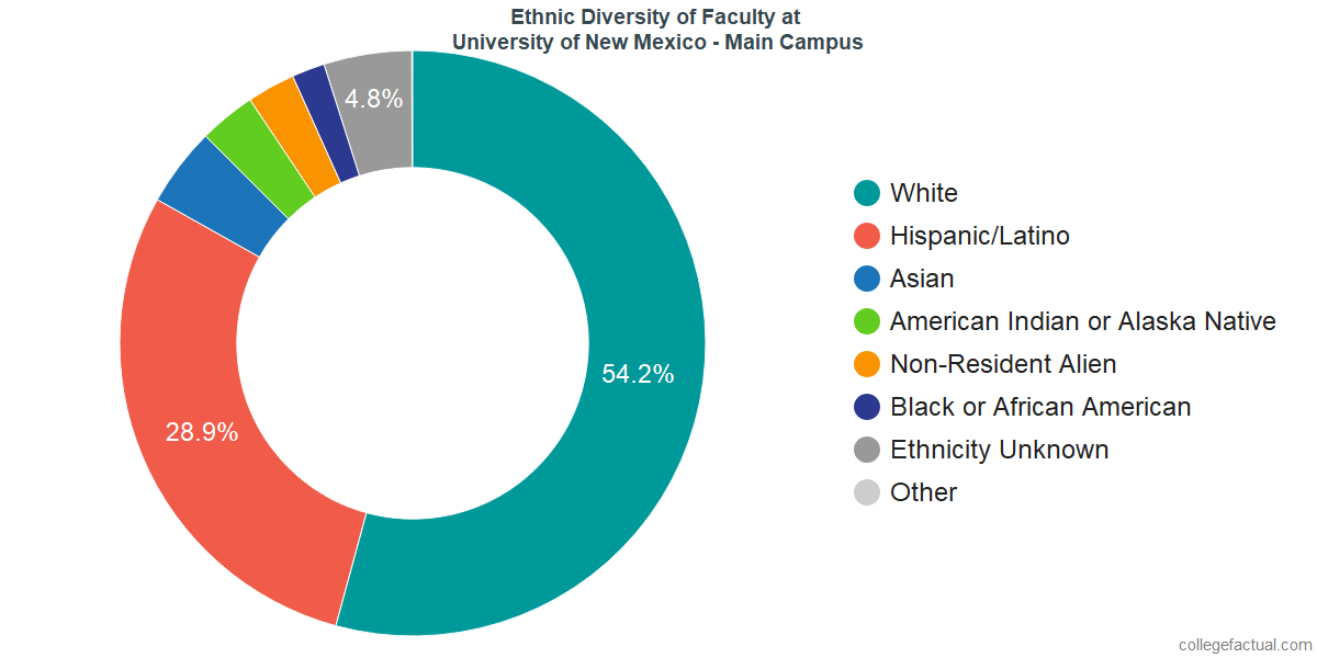 Ethnic Diversity of Faculty at University of New Mexico - Main Campus