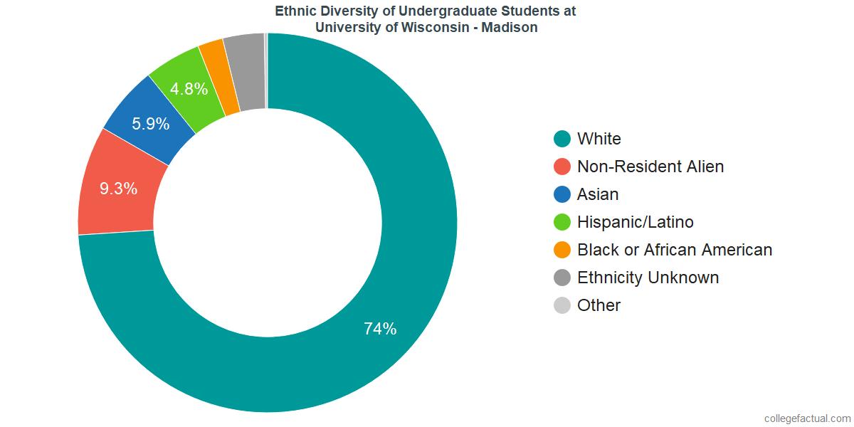 Ethnic Diversity of Undergraduates at University of Wisconsin - Madison