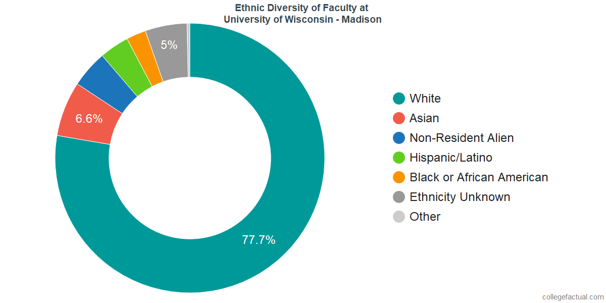 Ethnic Diversity of Faculty at University of Wisconsin - Madison
